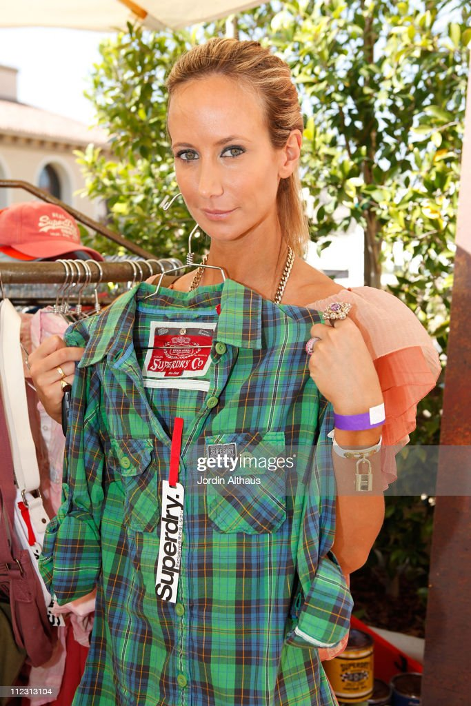 Lady Victoria Hervey poses with Superdry at the Kari Feinstein MTV Movie Awards Style Lounge held at Montage Beverly Hills on June 3, 2010 in Beverly Hills, California.