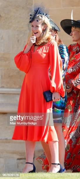 Lady Viola Grosvenor attends the wedding of Prince Harry to Ms Meghan Markle at St George's Chapel Windsor Castle on May 19 2018 in Windsor England...