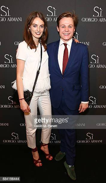 Lady Violet Manners and Archie Manners attend Giorgio Armani Parfums Si Gathering Day celebrating the new fragrance Si Le Parfum and Si Women's...