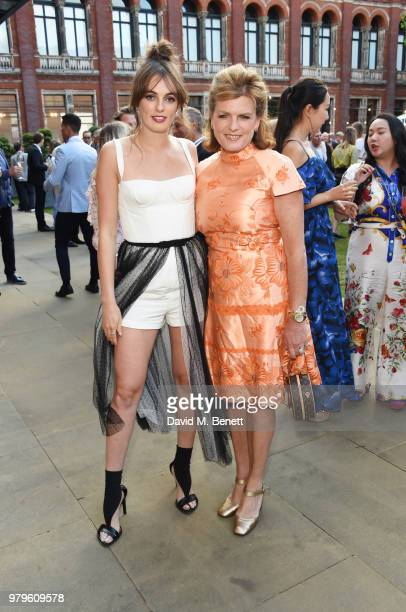 Lady Violet Manners and Emma Manners Duchess of Rutland attend the Summer Party at the VA in partnership with Harrods at the Victoria and Albert...