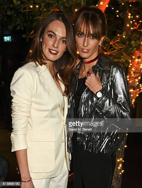 Lady Violet Manners and Lady Alice Manners attend the Tatler Little Black Book party with Polo Ralph Lauren at Restaurant Ours on October 20 2016 in...