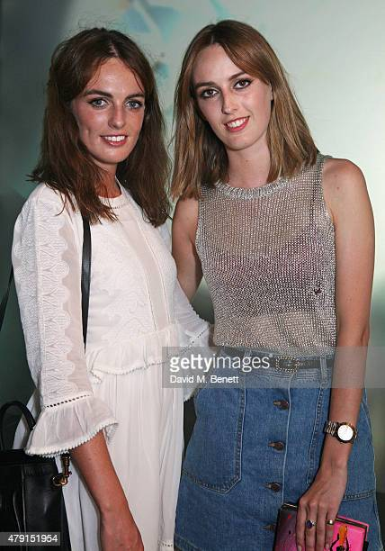 Lady Violet Manners and Lady Alice Manners attend the Tiffany Co immersive exhibition 'Fifth 57th' at The Old Selfridges Hotel on July 1 2015 in...