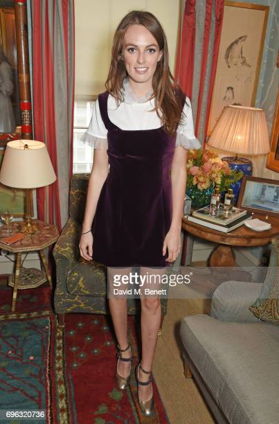 Lady Violet Manners attends an intimate dinner hosted by Alice NaylorLeyland for friends to celebrate her Garden Rose Cologne collaboration with...