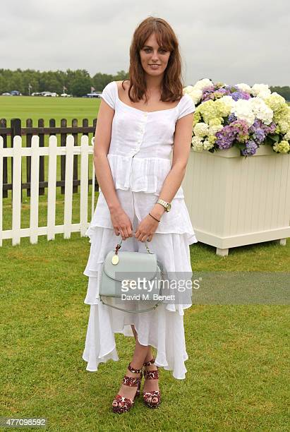 Lady Violet Manners attends The Cartier Queen's Cup final at Guards Polo Club on June 14 2015 in Egham England