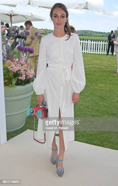 Lady Violet Manners attends the Cartier Queen's Cup Polo final at Guards Polo Club on June 18 2017 in Egham England