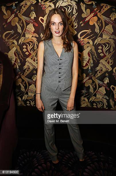 Lady Violet Manners attends the Moncler Freeze For Frieze Dinner Party at Park Chinois on October 7 2016 in London United Kingdom