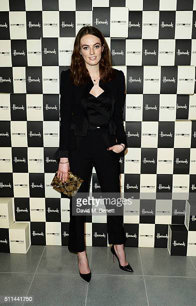 Lady Violet Manners attends the Serpentine Future Contemporaries x Harrods Party 2016 at The Serpentine Sackler Gallery on February 20 2016 in London...