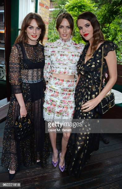 Lady Violet Manners Lady Alice Manners and Frankie Herbert attend a private dinner hosted by Cartier to celebrate the opening of the British Polo...