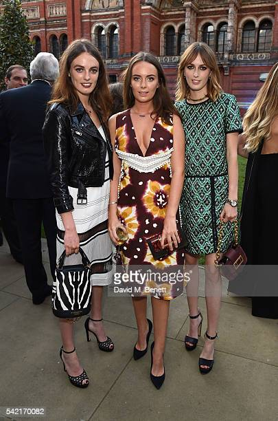 Lady Violet Manners Lady Eliza Manners and Lady Alice Maners attend the 2016 VA Summer Party In Partnership with Harrods at The VA on June 22 2016 in...