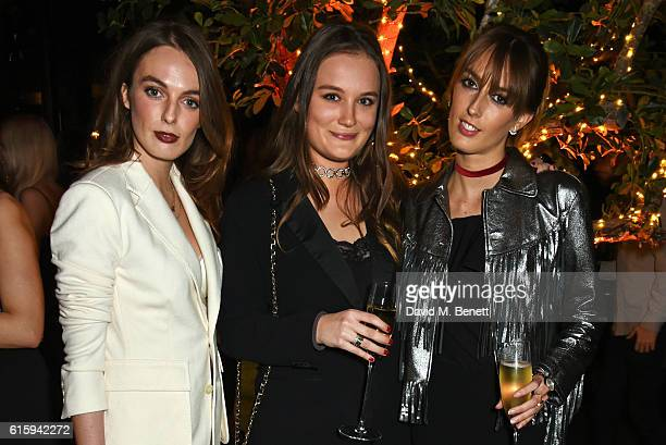 Lady Violet Manners Rose MacdonaldBuchanan and Lady Alice Manners attend the Tatler Little Black Book party with Polo Ralph Lauren at Restaurant Ours...