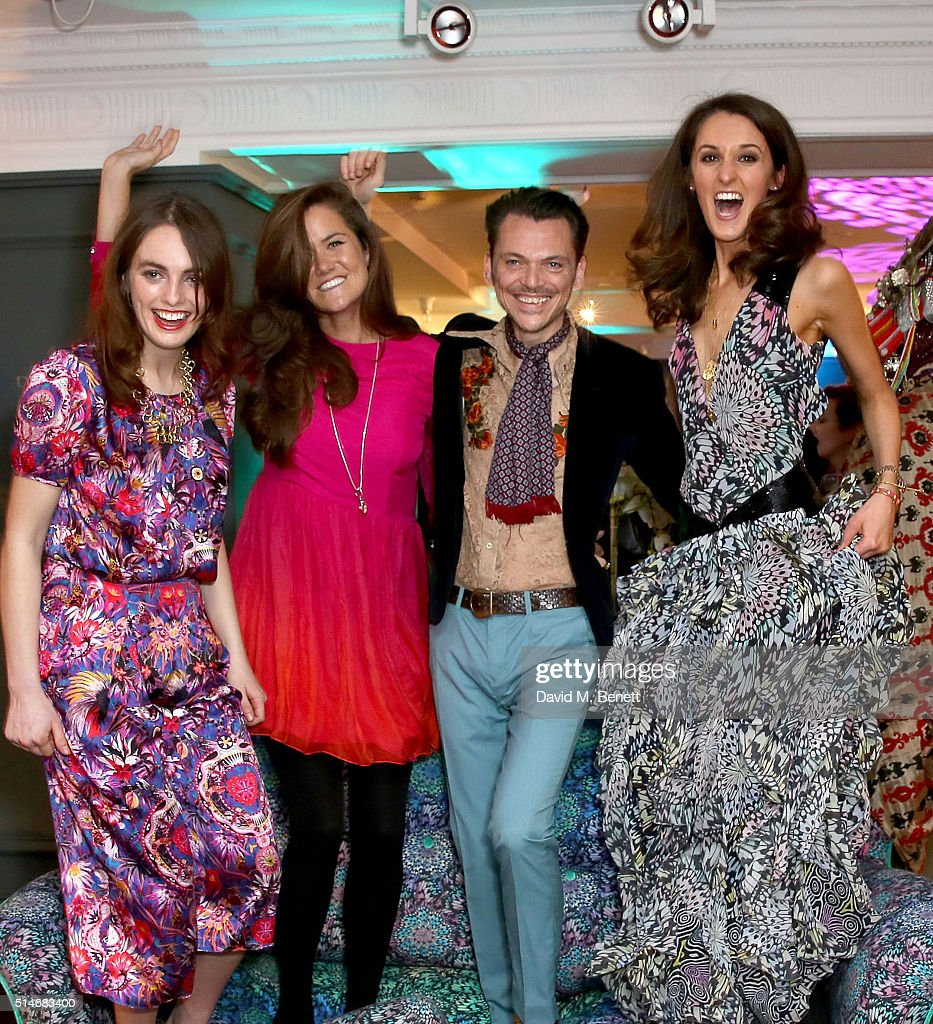 Lady Violet Manners, Rosie Londoner Matthew Williamson And Rosanna Falconer  Attend As Launches His First