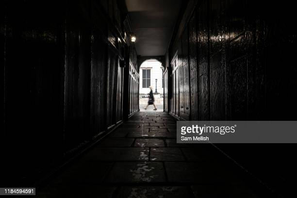 A lady walking past Pickering Place on St Jamess Street the 26th September 2019 in London in the United Kingdom