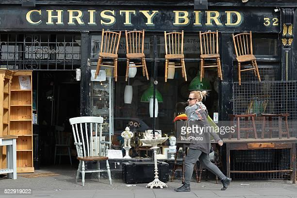 A lady walks in front of Christy Bird antiques on Richmond Street near the Portobello bridge in Dublin city center Dublin Ireland on Thursday 21...