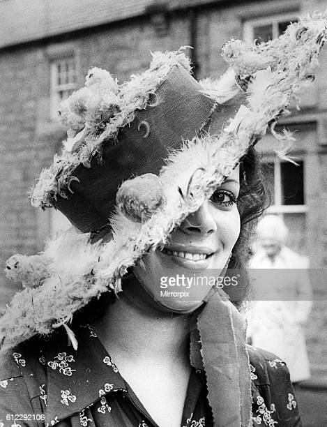 Lady wearing Easter Bonnet, 20th April 1976.