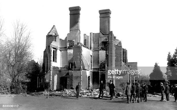Lady White's house Englefield Green burned by Suffragettes