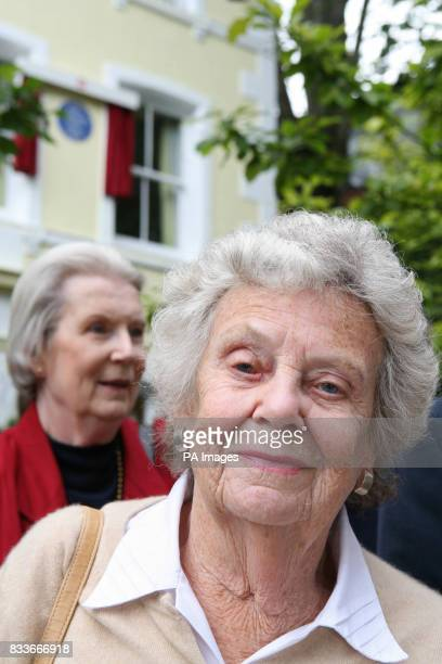Lady Wilson of Rievaulx the President of the Betjeman Society attends an unveiling ceremony for a blue plaque commemorating the poet writer and...