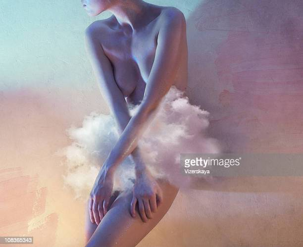 Lady with cloud