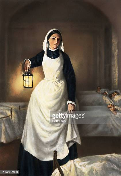 Lady with the lamp Florence Nightingale