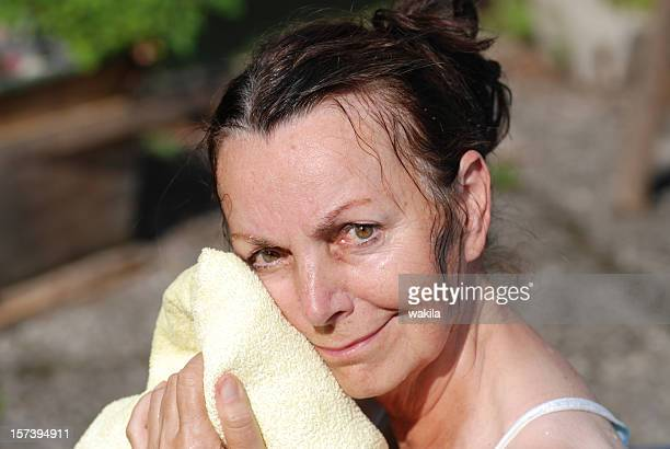 lady with towel
