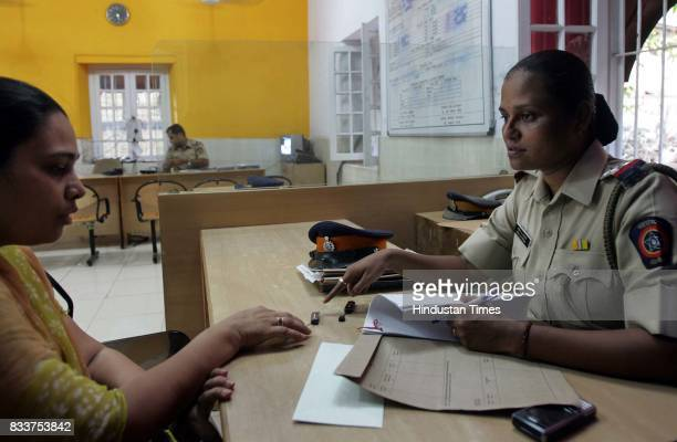 Lady Woman Police Sub Inspector Manisha Nalavade at Bandra police station