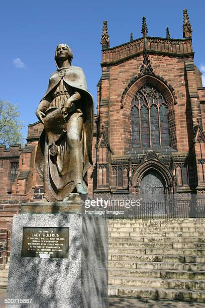 Lady Wulfrun statue and St Peter's Church Wolverhampton West Midlands The city of Wolverhampton is named after Lady Wulfruna a Saxon noblewoman who...