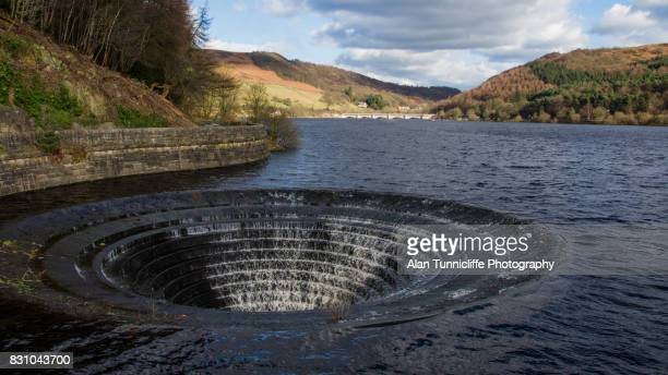 Ladybower reservoir drain