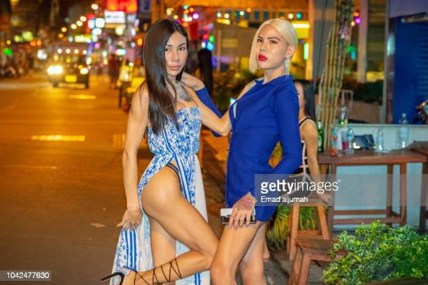 ladyboy, pattaya, thailand - ladyboys stock pictures, royalty-free photos & images