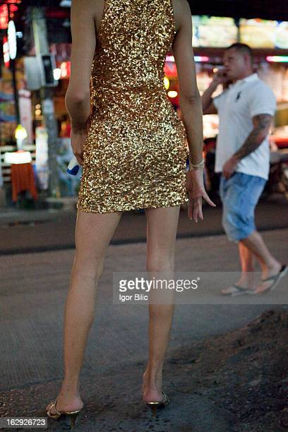 CONTENT] Ladyboy prostitute working on the street in Pattaya Thailand Prostitution is illegal in Thailand although in practice it is tolerated and...