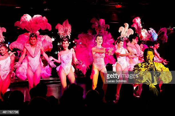 Ladyboys sing and perform in the famous Calypso Ladyboy Show on December 18 2010 in Bangkok Thailand