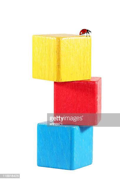 Marienkäfer auf cube tower 01
