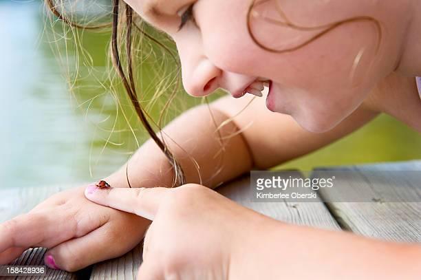 ladybug picnic - innocenza foto e immagini stock