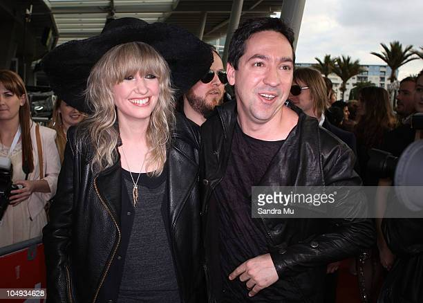 Ladyhawke and Jon Toogood arrive for the 2010 Vodafone Music Awards at Vector Arena on October 7 2010 in Auckland New Zealand