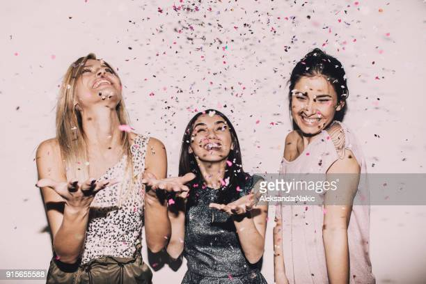 lady's party - girls stock pictures, royalty-free photos & images