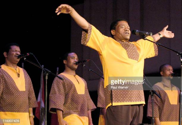 Ladysmith Black Mambazo during Concert of Colors Featuring Ladysmith Black Mambazo and Indigo Girls at Max M Fisher Music Center in Detroit Michigan...