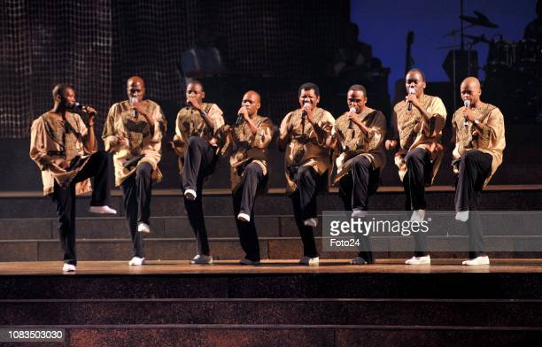 Ladysmith Black Mambazo performing at the Playhouse on October 10 in Durban South Africa The South African a capella group staged their debut play...