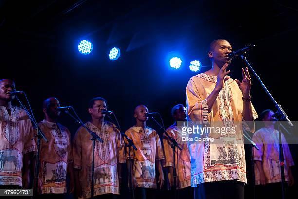 Ladysmith Black Mambazo performs at Tipitina's on March 19 2014 in New Orleans Louisiana