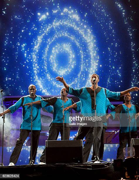 Ladysmith Black Mambazo performs during the Essence Festival All Star music concert at the Moses Mabhida Stadium on November 13 2016 in Durban South...