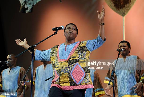 Ladysmith Black Mambazo performs during the opening ceremony of the 123rd IOC session on July 5 2011 in Durban South Africa The annual general...