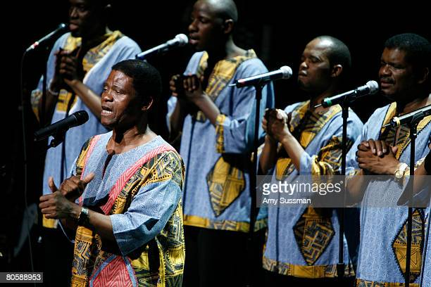 Ladysmith Black Mambazo performs Paul Simon's 'Under African Skies' at BAM on April 9 2008 in New York City
