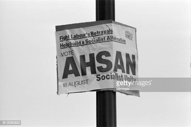 Ladywood, Birmingham, 15th August 1977. Socialist Unity Party, Raghib Ahsan, Campaign poster, ahead of Ladywood by-election to be held on 18th August...