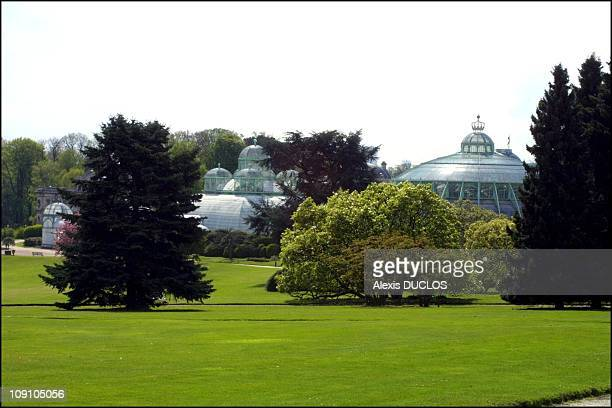 Laeken Royal Palace Glasshouses On September 4Th, 2002 In Brussels, Belgium . A View Of The park