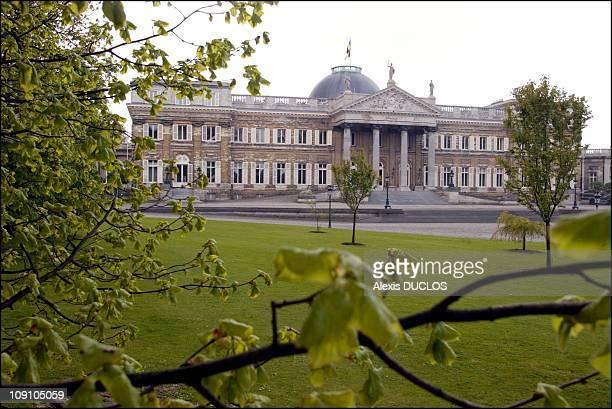 Laeken Royal Palace Glasshouses On September 4Th, 2002 In Brussels, Belgium . Laeken Castle