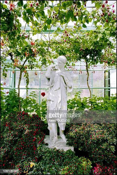 Laeken Royal Palace Glasshouses On September 4Th 2002 In Brussels Belgium Roman Goddess Diana Glasshouse