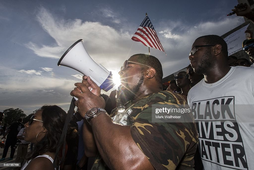 Protests Continue In Baton Rouge After Police Shooting Death Of Alton Sterling : News Photo
