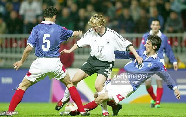Laenderspiel 2003, Bremen; Deutschland - Serbien-Montenegro 1:0; Dejan STEFANOVIC/YUG, Benjamin LAUTH/GER, Mladen KRSTAJIC/YUG