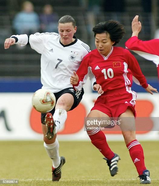 Laenderspiel 2003 Guetersloh Deutschland China Pia WUNDERLICH/GER Sun WEN/CHN