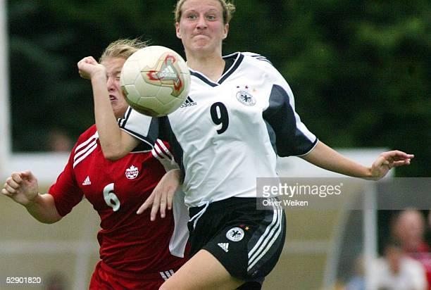 Laenderspiel 2003 in Rotenburg an der Wuemme Deutschland Kanada 20 Justine LABRECQUE/CAN Anja MITTAG/GER