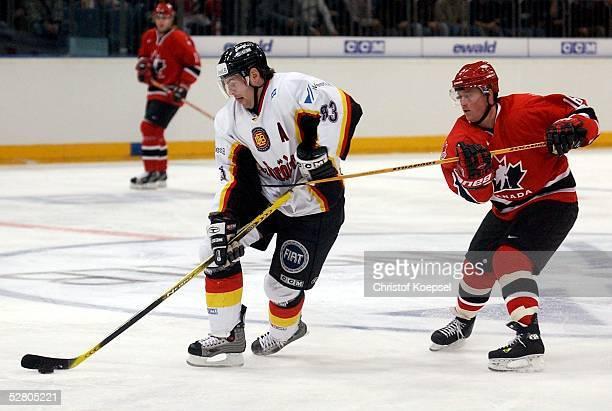 Laenderspiel 2003, Koeln; Deutschland - Kanada ; Jan BENDA/Deutschland, Rob SHEARER/Kanada