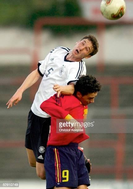 Laenderspiel 2003 Oberhausen Deutschland Spanien 02 Christian SCHULZ/GER Sergio GARCIA/ESP