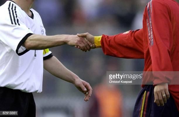Laenderspiel 2003 Oberhausen Deutschland Spanien 02'Fair Play '